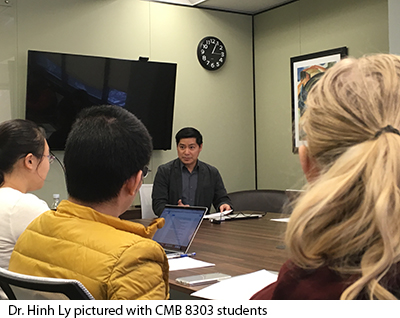 Hinh Ly with CMB 8303 students