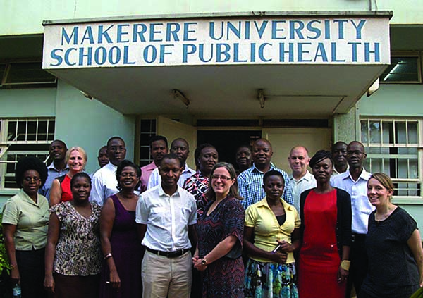 Dr. Katey Pelican with her public health team at Makerere University in Kampala Uganda.