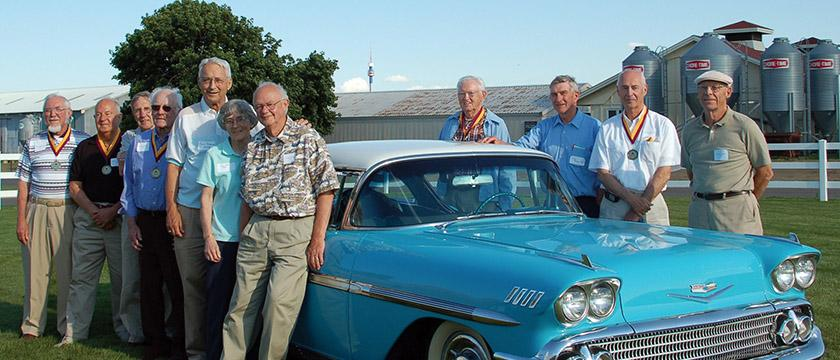 Alumni Group with Car