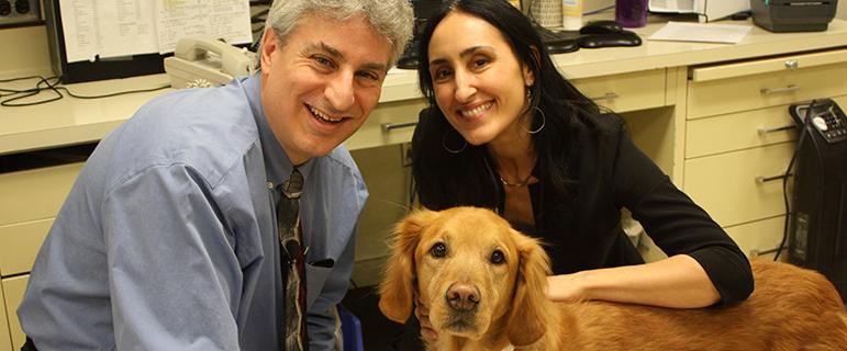 Drs. Antonella Borgatti and Jaime Modiano with Valky