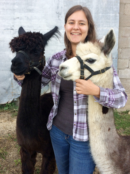Kaitlin Marg plans to work with alpacas, cattle, and small ruminants.