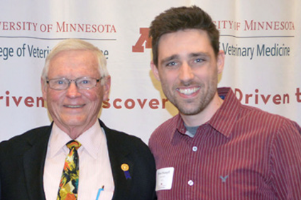 Dr. Dick Huston with scholarship recipient Brian Stampfl