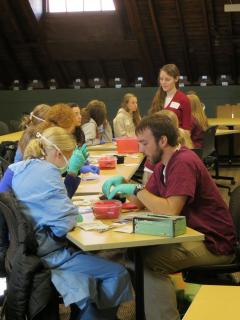 High school student participating in a VetCamp event.